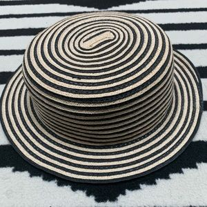Forever 21 Hand Woven Striped Hat